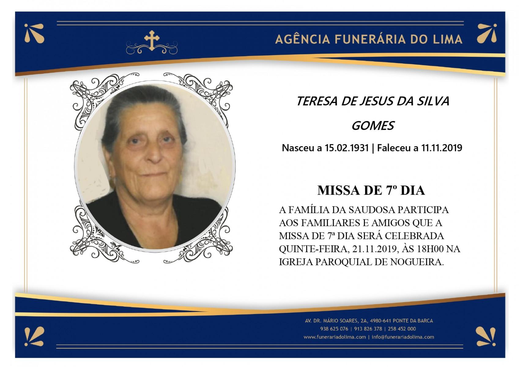 Teresa de Jesus da Silva Gomes