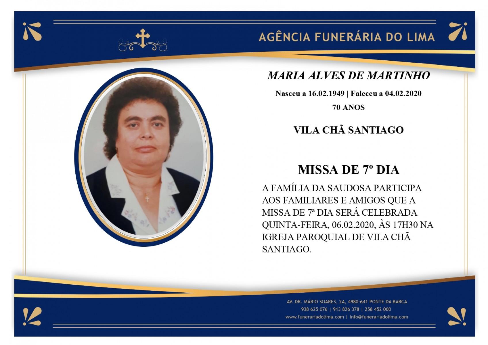 Maria Alves de Martinho