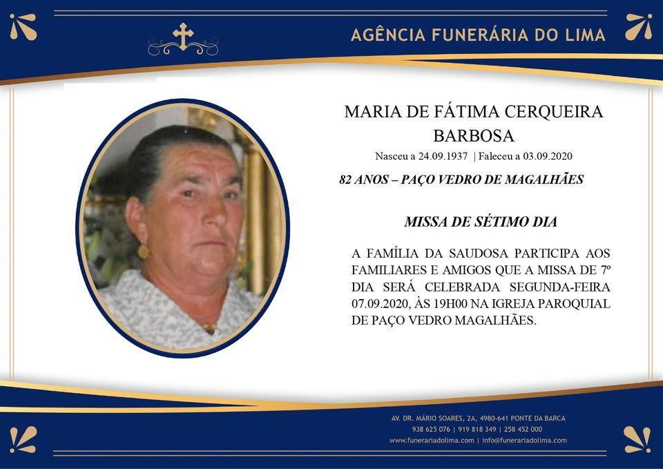 Maria Fátima Cerqueira Barbosa