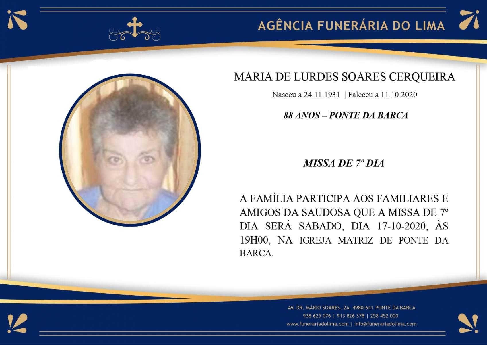 Maria Lurdes Soares Cerqueira