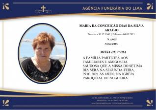 Maria Conceição Dias Silva Araújo