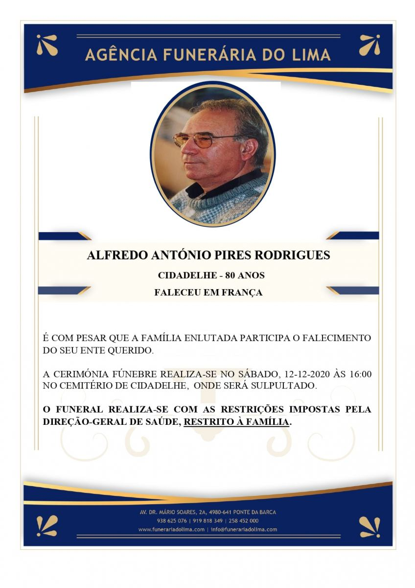 Alfredo António Pires Rodrigues