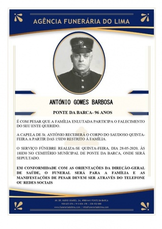 António Gomes Barbosa