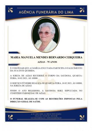 Maria Manuela Mendes Bernardo Cerqueira