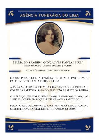 Maria do Sameiro Goncalves Dantas Pires